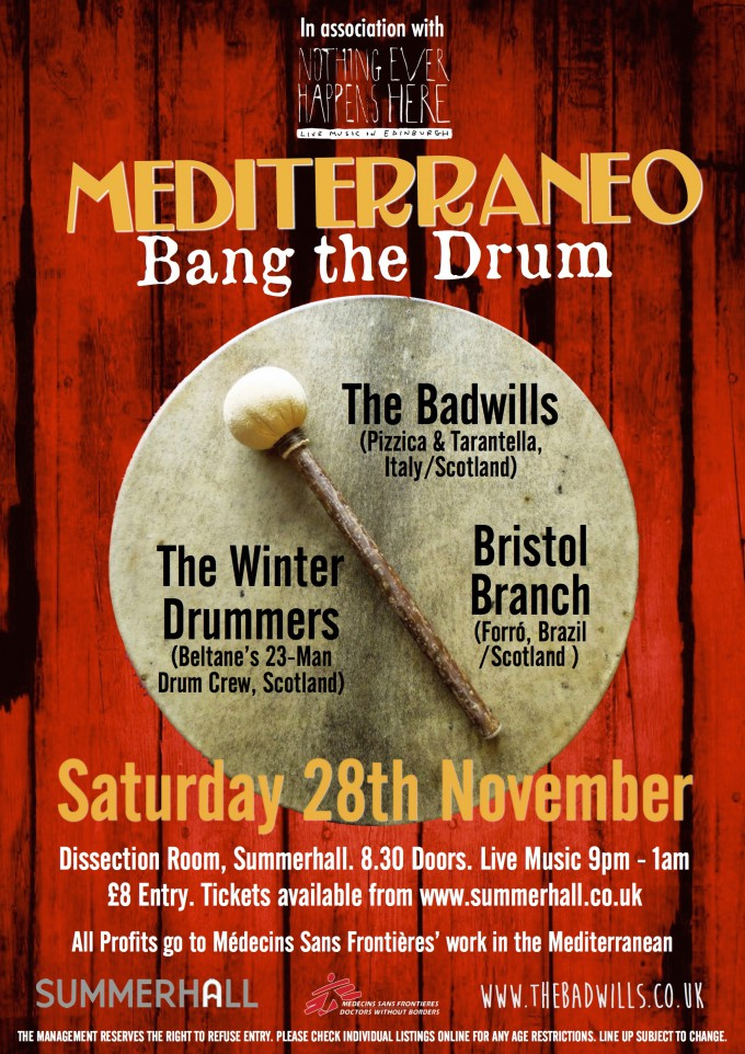 Mediterraneo is Back! and banging a bigger drum in support of MSF.
